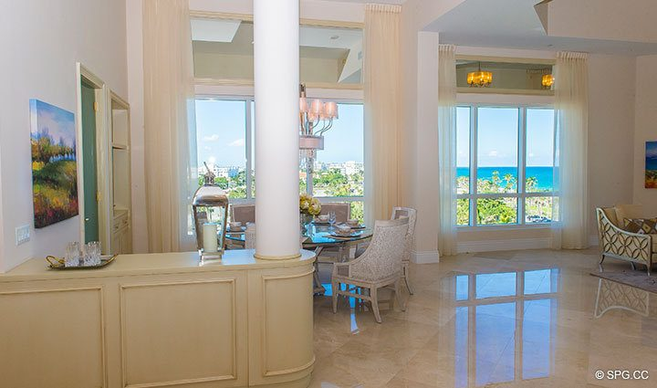 Beautifully Decorated Penthouse 4 at Bellaria, Luxury Oceanfront Condominiums in Palm Beach, Florida 33480.