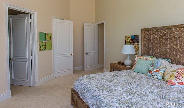 Large Guest Bedroom in Penthouse 4 at Bellaria, Luxury Oceanfront Condominiums in Palm Beach, Florida 33480.